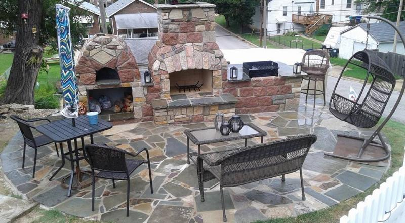 Masterpiece masonry stone and brick on homesandbusinesses interior it is hard to beat the intimate feeling of a patio with an outdoor fireplace there is a truly magical element to natural stone brick is forever classic solutioingenieria Image collections